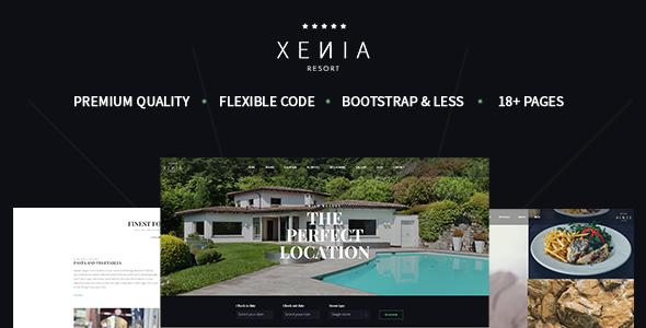 XENIA - Hotel & Resort Bootstrap Template