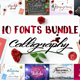 10 Fonts Bundle Calligraphy - GraphicRiver Item for Sale