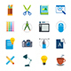 Designer Tools Flat Icon - GraphicRiver Item for Sale