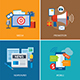 Advertising and Promotion Flat Icon Design - GraphicRiver Item for Sale