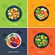 Food Web Banner Flat Design. Vegetarian , Organic Food, Healthy Food - GraphicRiver Item for Sale