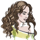 Sketch of a Girl With Curly Hair - GraphicRiver Item for Sale