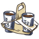 Selection of Coffee Takeaway Cups and Carrier Trays.  - GraphicRiver Item for Sale