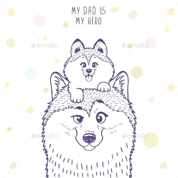 Husky Dad with a Son