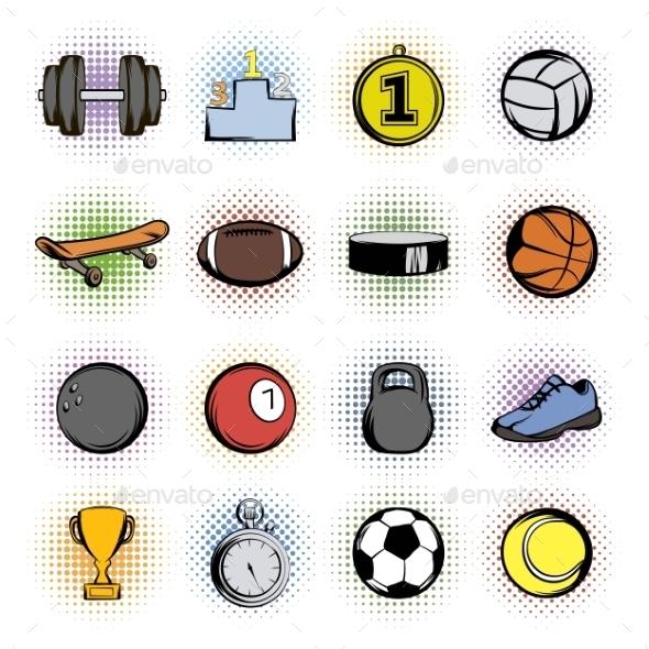Sports Comics Icons