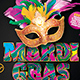 Mardi Gras Party Flyer Template 3 - GraphicRiver Item for Sale