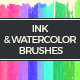 31 Ink and Watercolor Brushes - GraphicRiver Item for Sale