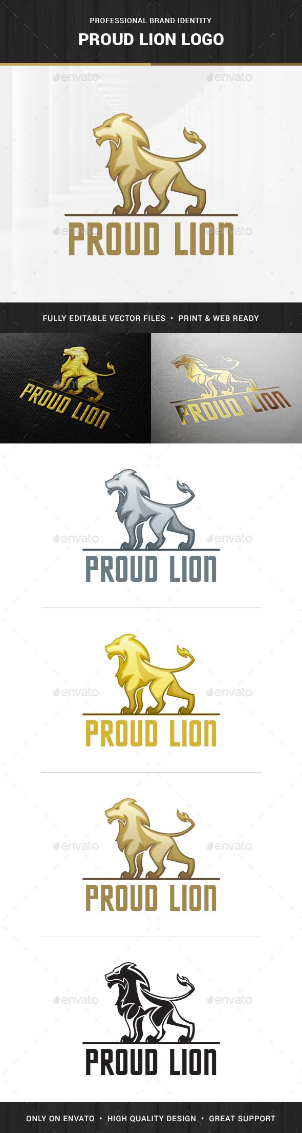 Proud Lion Logo Template