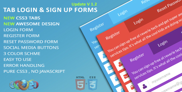 Tab Login & Sign Up Forms