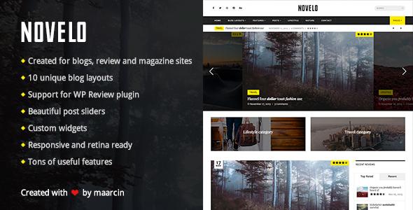 Novelo – Responsive WordPress Blog Theme