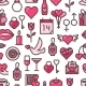 Valentines Day Love Seamless Pattern - GraphicRiver Item for Sale