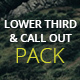 4K- Lower Third & Call Out Pack - VideoHive Item for Sale