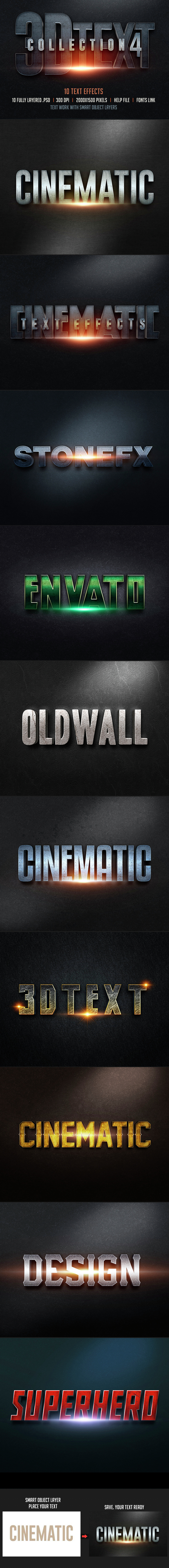 Realistic Text Effect Photoshop Actions from GraphicRiver