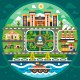 City Circle Landscape. - GraphicRiver Item for Sale