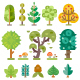 Isolated Geometric Trees.  - GraphicRiver Item for Sale