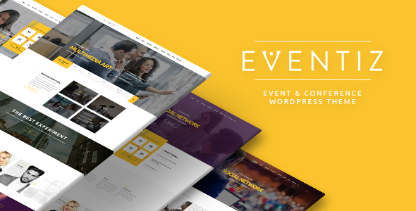 Eventiz - Conference Event Responsive WordPress Theme