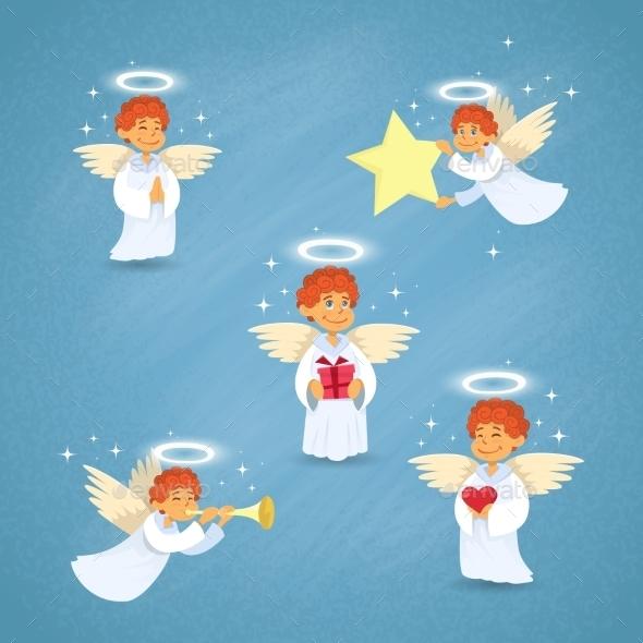 Valentine's Angel Cupid Group Saint Valentine