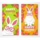 Easter Banners With Flat White Rabbit - GraphicRiver Item for Sale