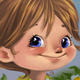 Cute cartoon girl with flowers - GraphicRiver Item for Sale