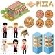 Pizza Set - GraphicRiver Item for Sale
