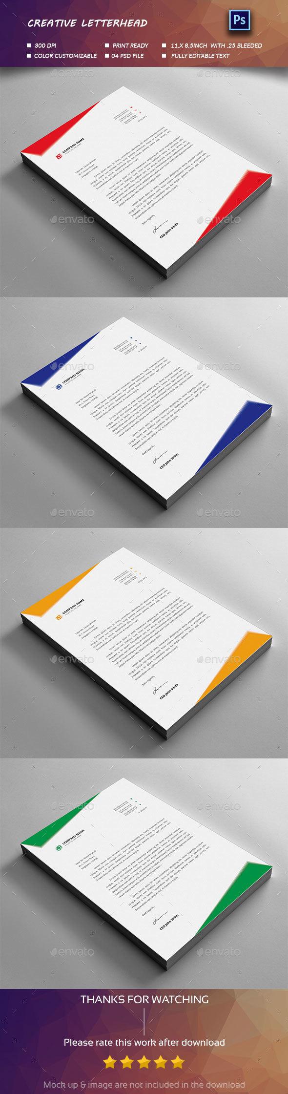 Letterhead Design Graphics, Designs & Templates