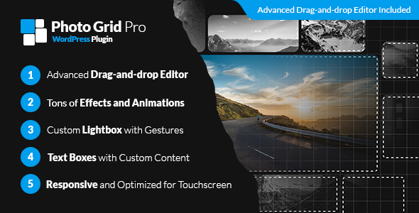 Photo Grid Pro - WordPress Interactive Grid Gallery Builder