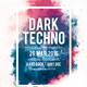 Dark Techno party flyer template - GraphicRiver Item for Sale