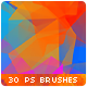 30 Low-Poly / Polygonal / Geometrical Photoshop Brushes - GraphicRiver Item for Sale
