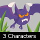 3 Game bats character - GraphicRiver Item for Sale