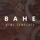 Bahe - Responsive One Page Portfolio HTML Template - ThemeForest Item for Sale