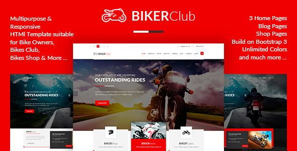 BikersClub - HTML Template