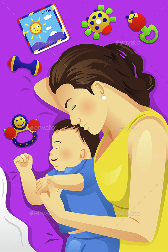 Mother Baby Sleeping Together