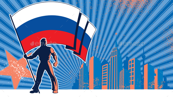 Flag Bearer Russia Background