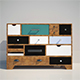 Commode Kare Dresser Malibu Eu 14-Drawer - 3DOcean Item for Sale
