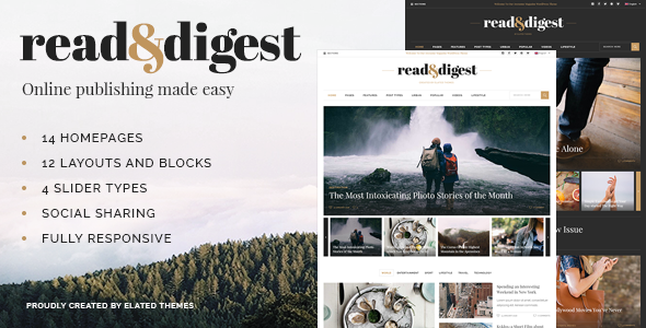 Read and Digest - Newspaper Theme