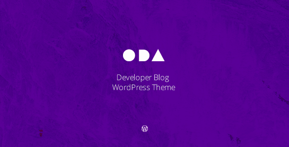 ODA — Developer's Blog WordPress Theme