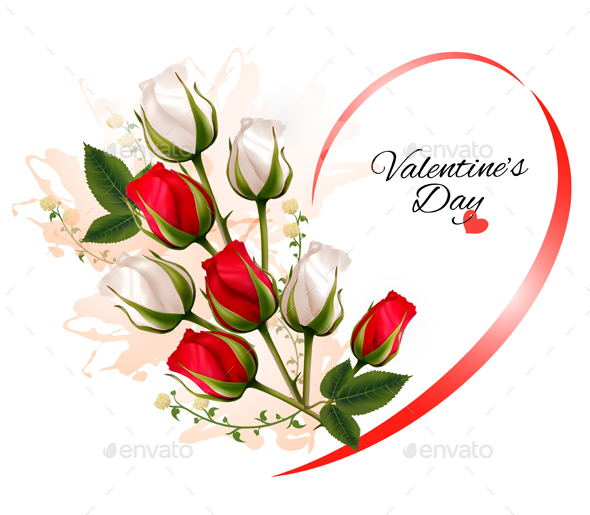 Valentines Day Background With A Bouquet Of Flowers