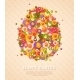 Easter Banner with Flat Icons Egg - GraphicRiver Item for Sale