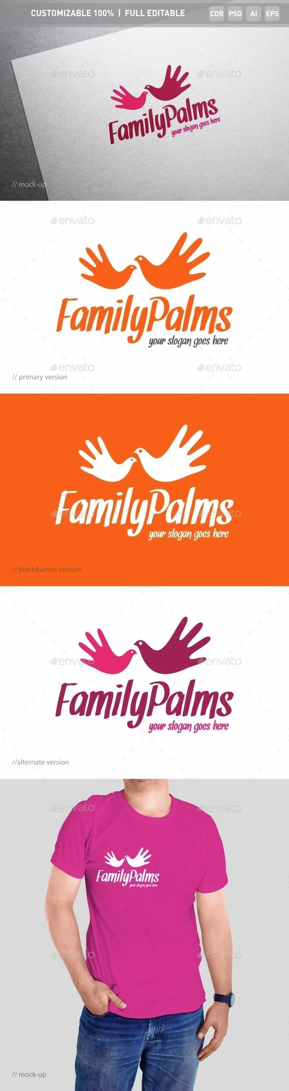 Family Palms Logo Template