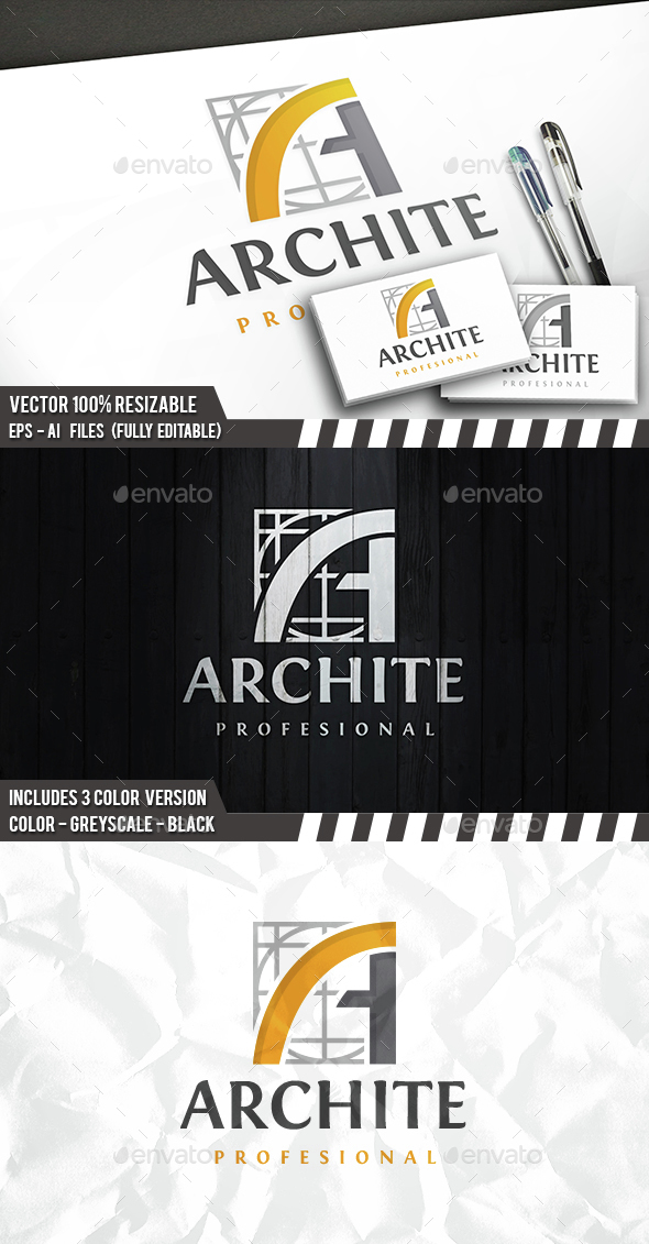 Architect A Letter Logo