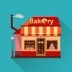 Bakery Building With Cakes, Donuts And Pies - GraphicRiver Item for Sale