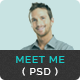 Meet Me - One Page Creative Portfolio PSD Template - ThemeForest Item for Sale