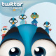 Twitter bird vector mascot - fully customizable - GraphicRiver Item for Sale