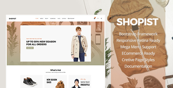 Shopist - Responsive Stylish Site eCommerce Template