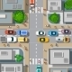 Urban Crossroads with Cars - GraphicRiver Item for Sale