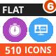 510 Vector Blue & Black Filled Icons Bundle