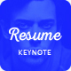 Resume - Personal & Corporate Keynote Presentation Template  - GraphicRiver Item for Sale