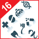 Gray medicine icons on white background - GraphicRiver Item for Sale