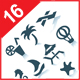 Gray vacation icons - GraphicRiver Item for Sale