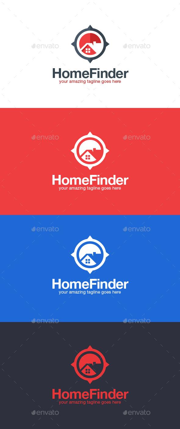 Real Estate Finder Logo Template